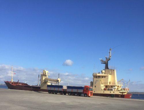 "31.03.2020 – M/V ""Ida H"" selfdischarging barley in Aalborg"